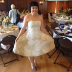 Doilies on a dress, not on the Table